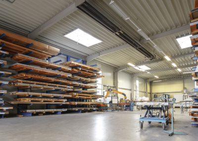 Lager / Produktion der Rifa Kanttechnik am Firmensitz in Rietberg